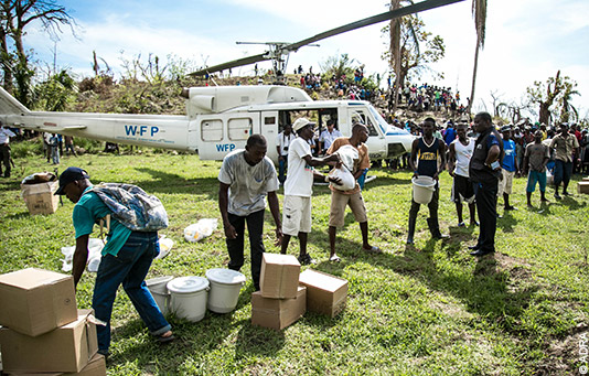 Emergency aid following the hurricane in Haiti
