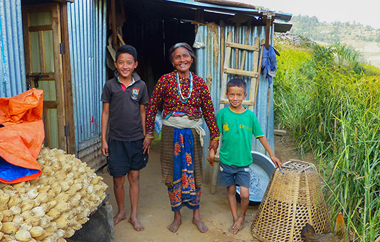 projet d'aide après le séisme au Népal.