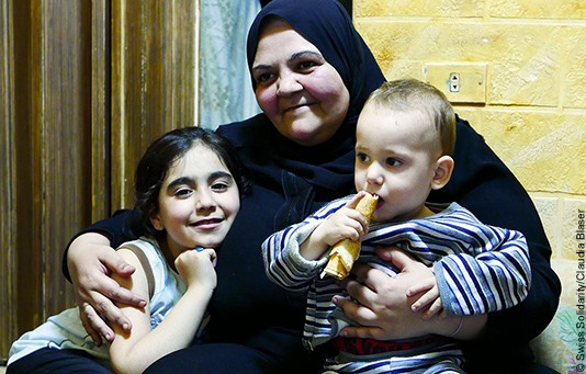 Sana Al-Hawtari lives with her children in a refugee camp in Beirut.