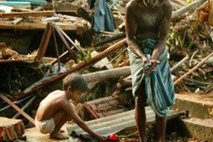 Le tsunami en Asie du Sud Est en 2004