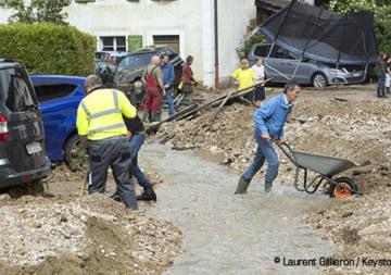 Violents orages au Val-de-Ruz dans le canton de Neuchâtel